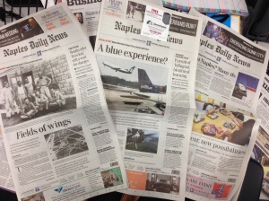 The stories ran front page Sunday through Tuesday.